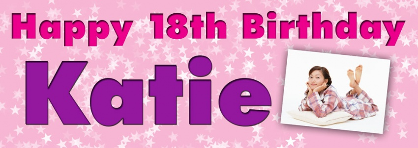Birthday banner with multi star background