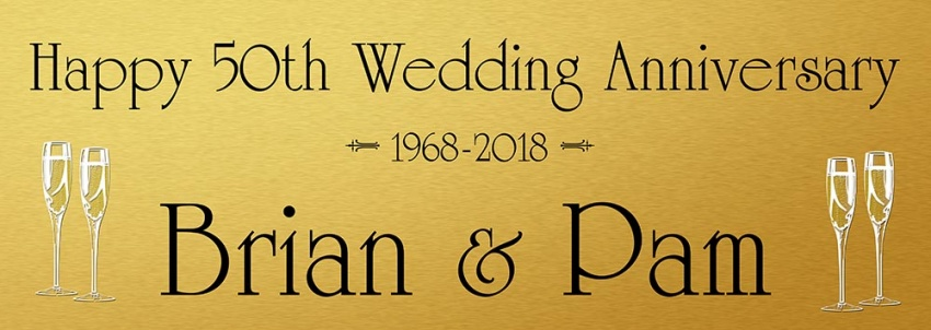 Golden Wedding banner