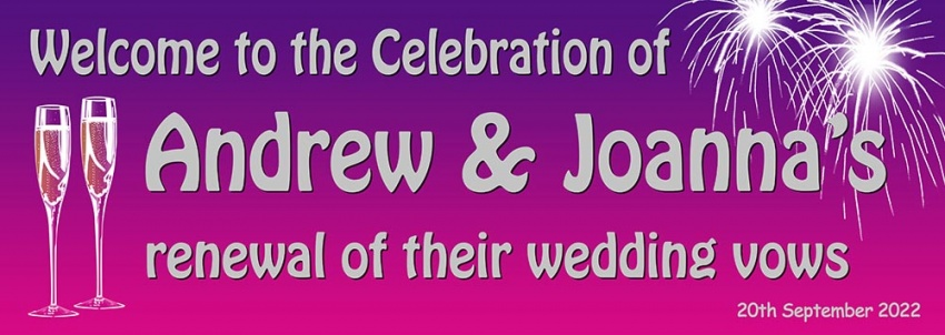 Renewal of Vows Wedding Banner