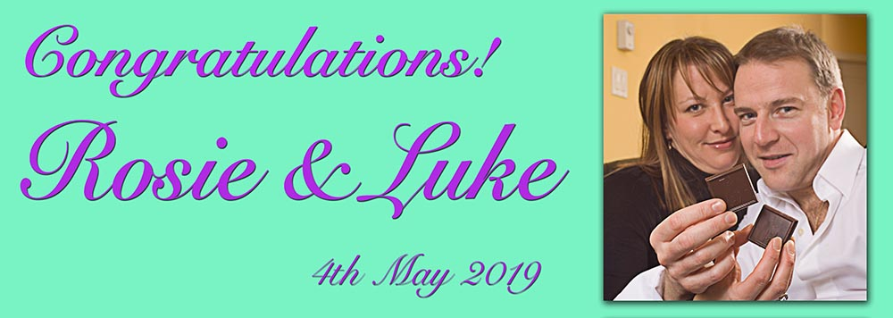 congratulations banner with photograph personalised banners