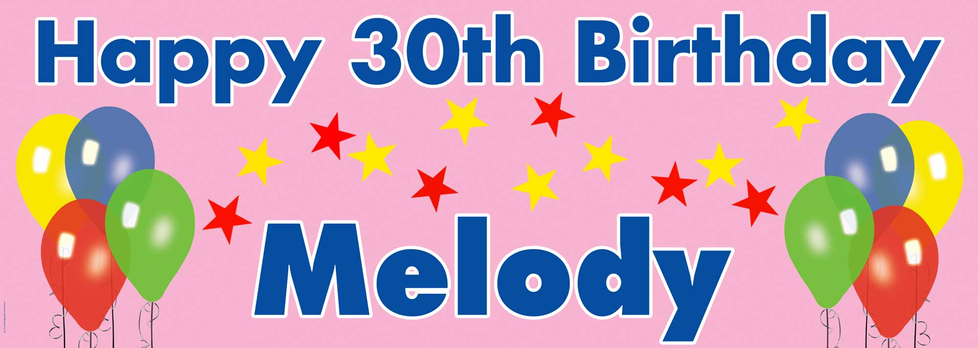 Balloons and stars style of birthday banner
