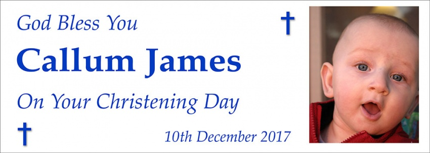 Christening Day Banner – ''God Bless You''