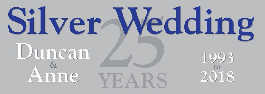 Silver Wedding Banner 25 Years