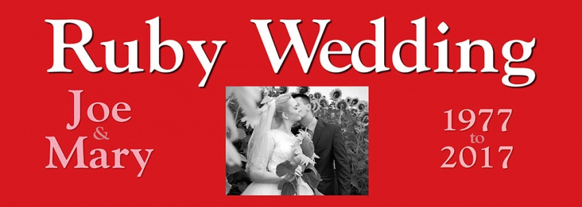 Ruby Wedding Anniversary Banner