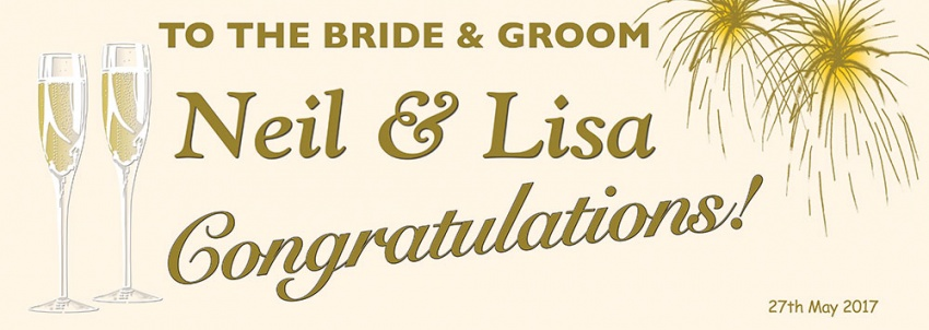 To the Bride and Groom Wedding Banner