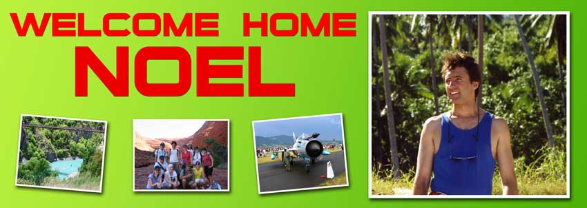 Welcome Home banner with 4 photographs