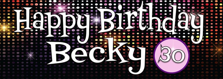 Disco Birthday Banner