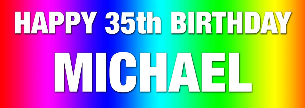 Multicolour Rainbow background birthday banner