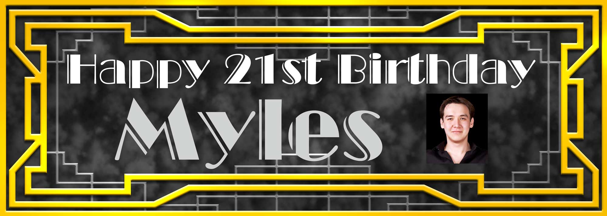 Art Deco Great Gatsby style of birthday banner