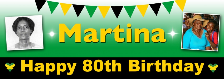 Jamaican Themed Birthday Banner