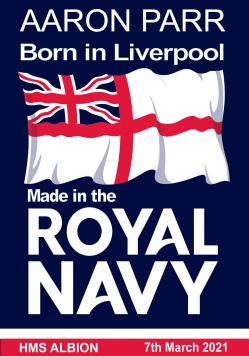 Born in * Made In the Royal Navy-poster