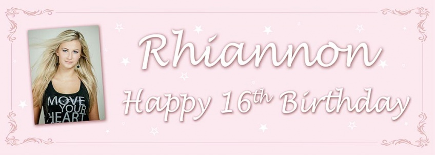 Teenage Girls Birthday Banner with Stars