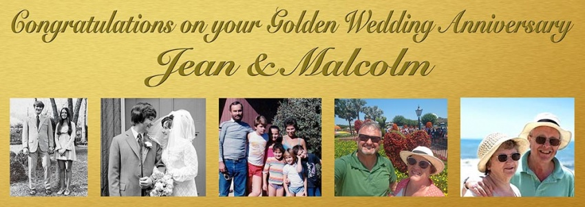 Wedding Anniversary banner with 5 photos