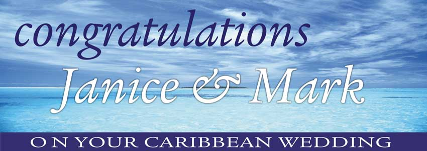 Island in the Sea Caribbean Wedding Banner