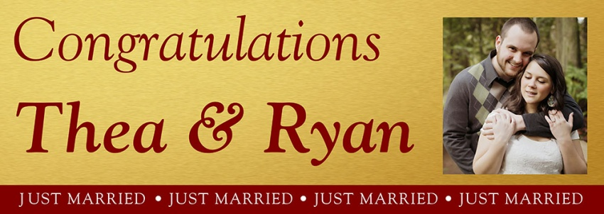 Gold Background Wedding Banner