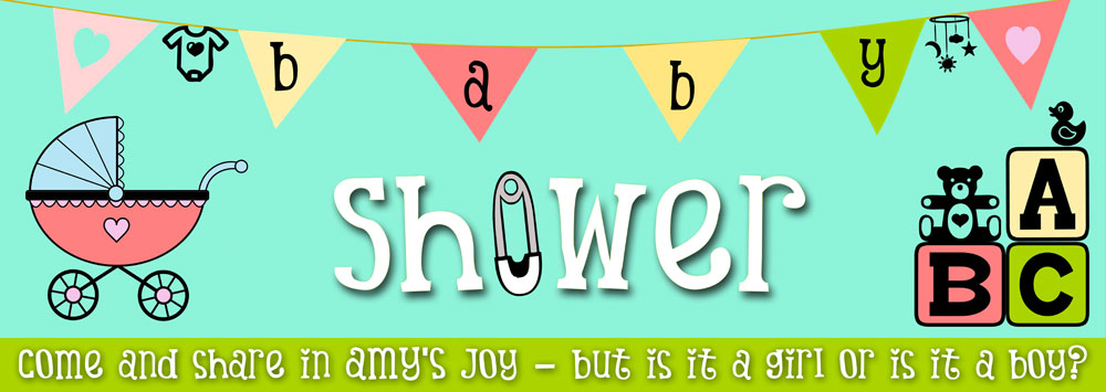 Baby Shower Banner With Bunting Background Personalised Banners