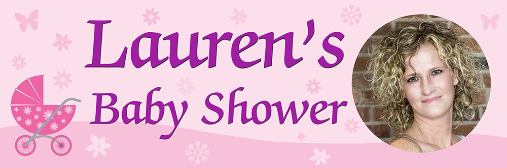 CHEAP PERSONALISED BABY SHOWER BANNER