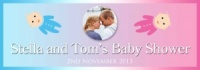 Baby Shower banner with babies and photo