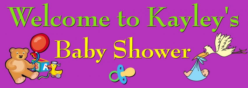 Baby Shower banner with toys