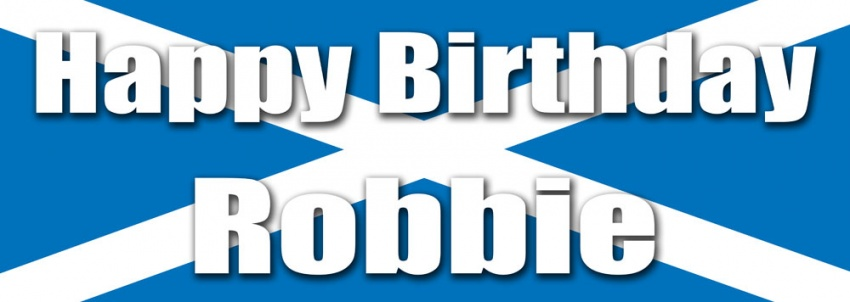 Scotland Flag Birthday Banner