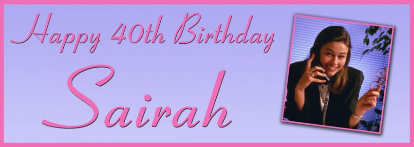 Pink and Lilac background birthday banner