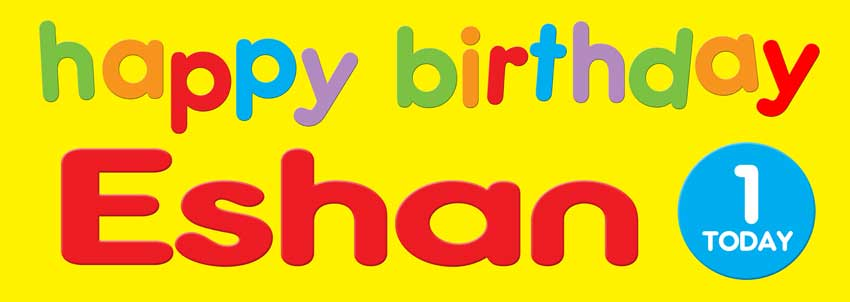 Bright Happy Birthday Banner