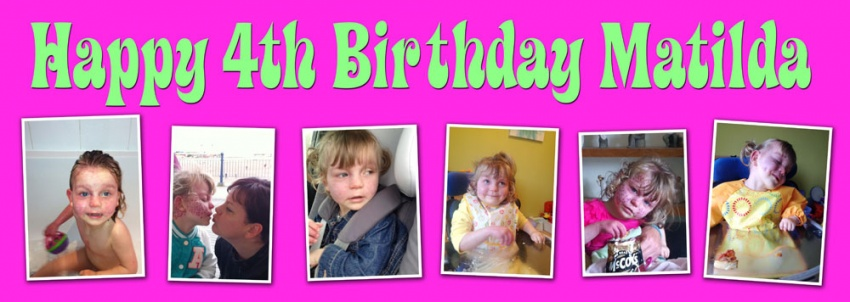 Childrens Birthday Banner with up to 6 photographs