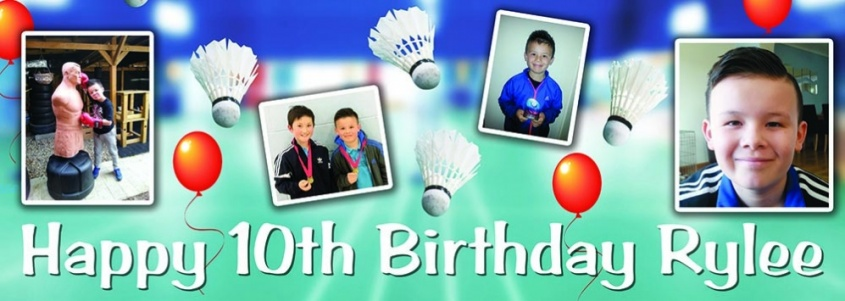 Badminton Birthday Banner