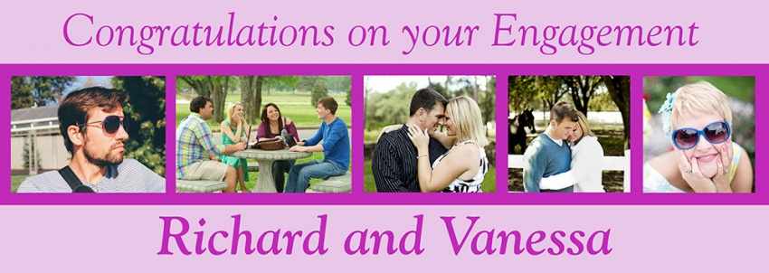 Engagement banner with 6 photos