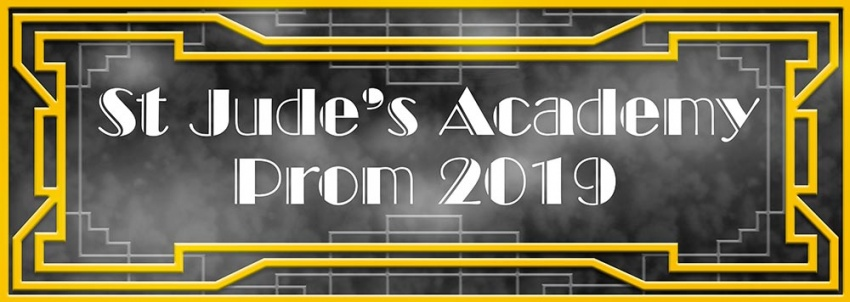 Art Deco style Prom banner
