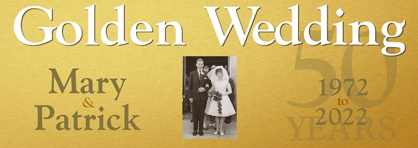 Golden Wedding 50 Years Anniversary Banner