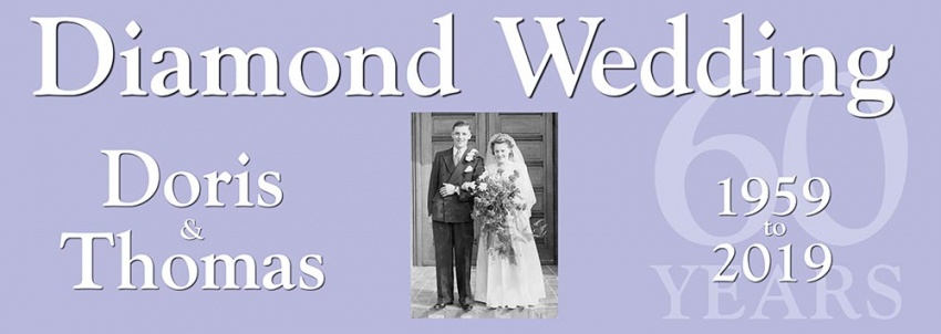 Diamond Wedding 60 Years Anniversary Banner