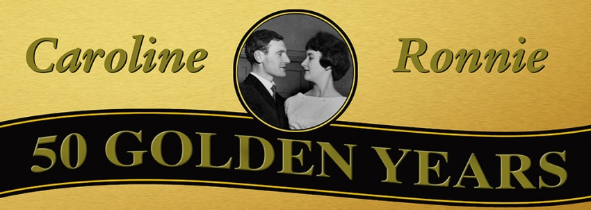 Golden Wedding Anniversary 50 Years Banner