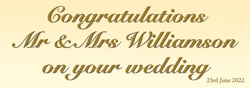 Congratulations Mr & Mrs Wedding Banner